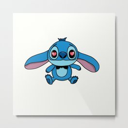 Cute lovely Stitch Metal Print