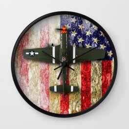 North American P-51 Mustang 'Old Crow' Wall Clock