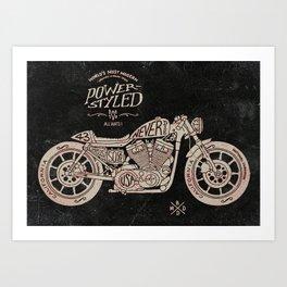 Power Styled Motorcycle Art Print