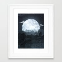 moonrise Framed Art Prints featuring Moonrise by Tracie Andrews