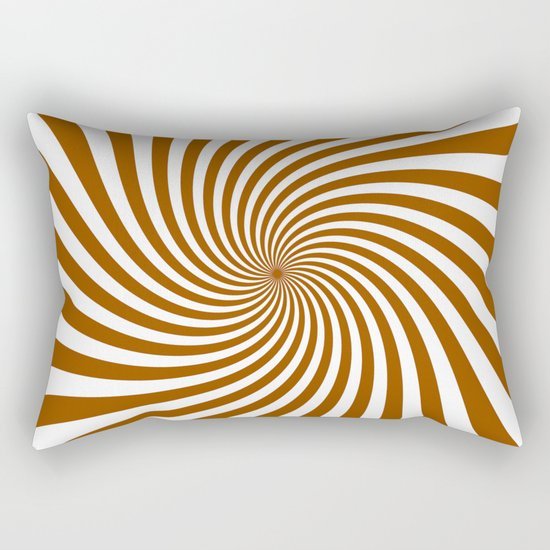 Swirl (Brown/White) Rectangular Pillow