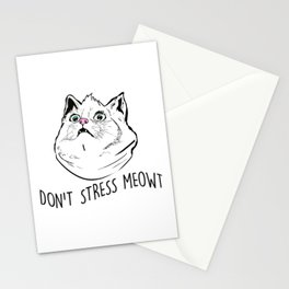 Don't Stress Meowt Stationery Cards