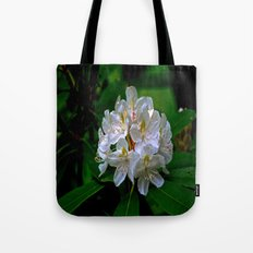 Rhododendron Bloom at Falling Water Tote Bag