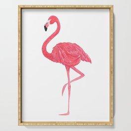 Flamingo fuchsia flap Serving Tray