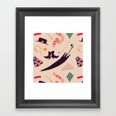Practically Perfect Pattern Framed Art Print