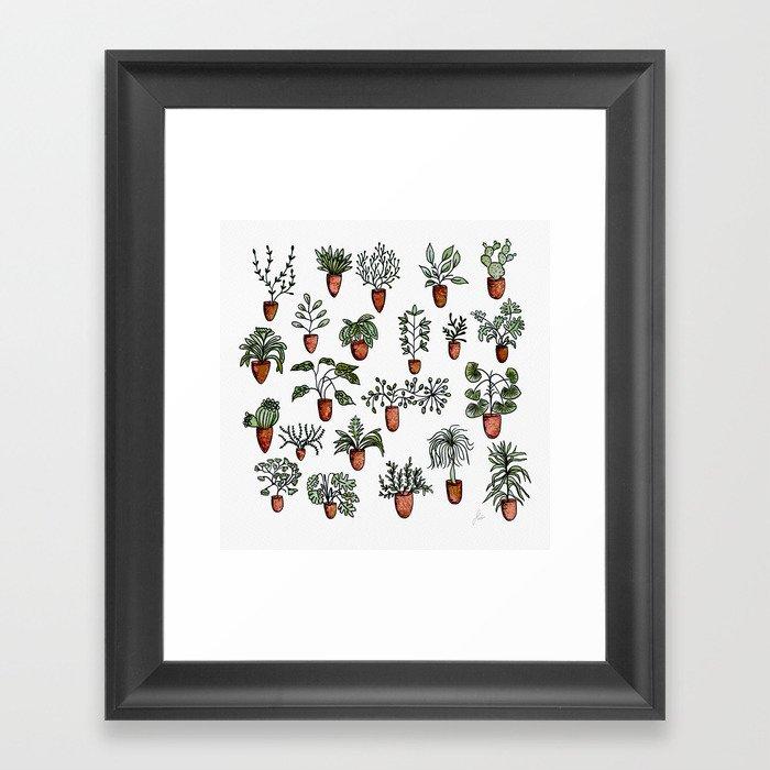 Succulent Houseplants in Terracotta Pots Watercolor Cacti u0026 Plant Wall Art Framed Art Print  sc 1 st  Society6 & Succulent Houseplants in Terracotta Pots Watercolor Cacti u0026 Plant ...