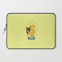 Five Years fifth Birthday Party Cat T-Shirt D3mib Laptop Sleeve