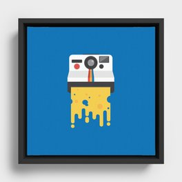 Say Cheese Framed Canvas