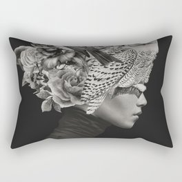 Lady with Birds(portrait) Rectangular Pillow
