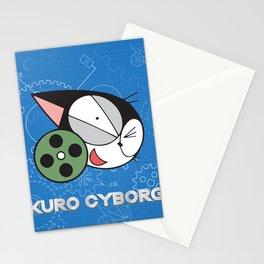 kuro cyborg cat Stationery Cards