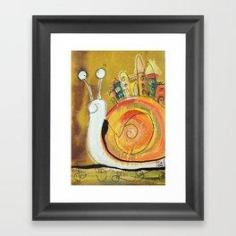 Happy Snail Framed Art Print