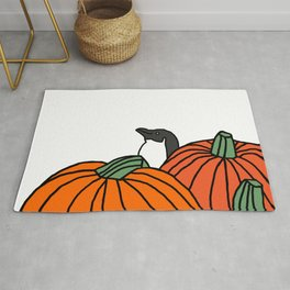Little Blue Penguin in the Pumpkin Patch Rug