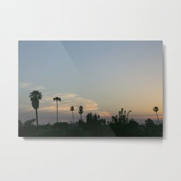 Venice Sunset (with Palm Trees) Metal Print