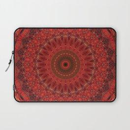 Mandala in pastel red and orange tones Laptop Sleeve