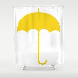 Yellow Umbrella Shower Curtain