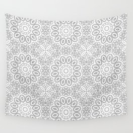 Black and white lace 2 Wall Tapestry