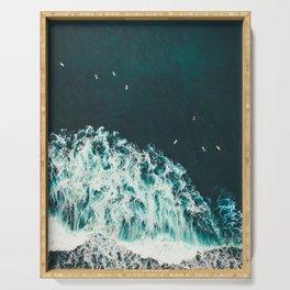 WAVES - OCEAN - SEA - WATER - COAST - PHOTOGRAPHY Serving Tray