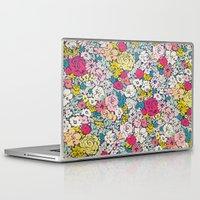 vintage flowers Laptop & iPad Skins featuring Vintage flowers by Love2Snap