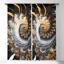 Fractal Spiral Blackout Curtain