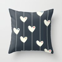 calendars Throw Pillows featuring Heart  by Shabby Studios Design & Illustrations ..