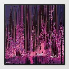 The purple pond Canvas Print
