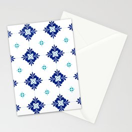 blue morrocan dream no3 Stationery Cards