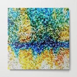 Design 34 Mosaic look Metal Print