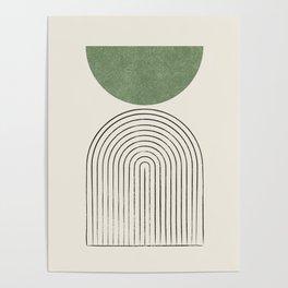 Arch balance green Poster