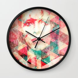 Bowie abstraction Wall Clock