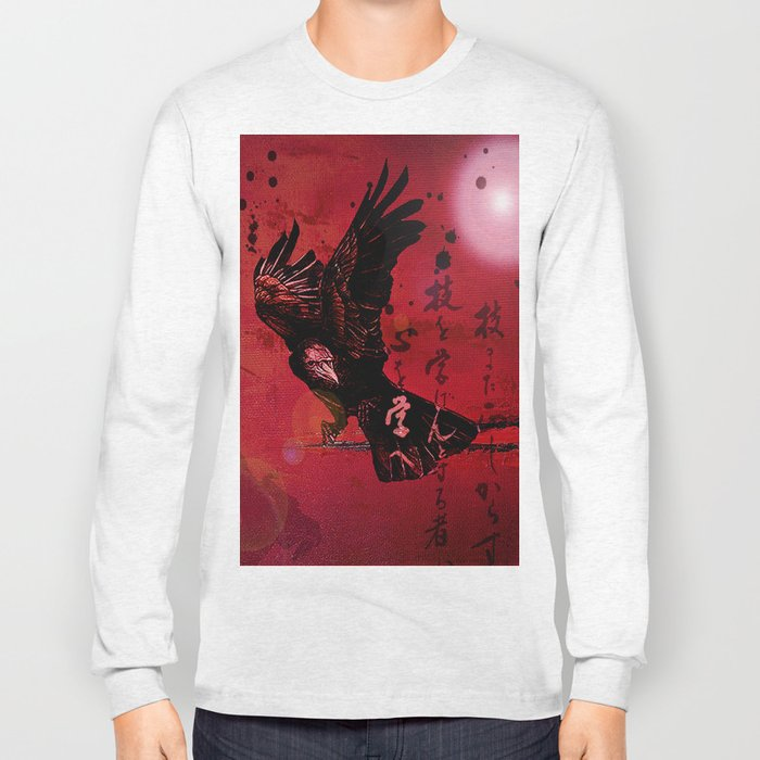 The crow philosophizes Long Sleeve T-shirt