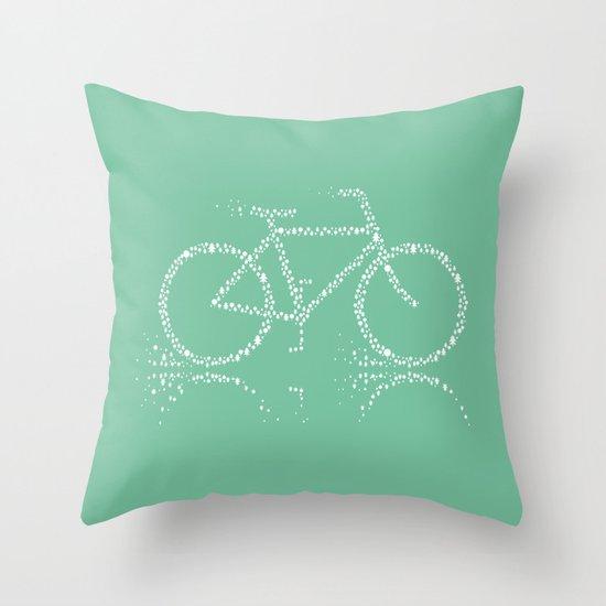 Treebike Throw Pillow