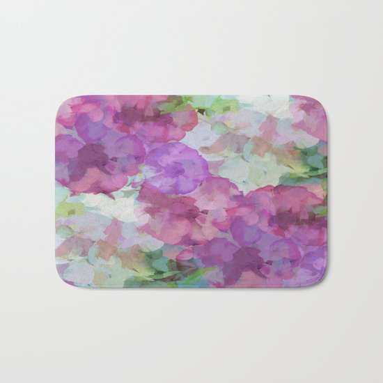 Sweet Peas Floral Abstract Bath Mat