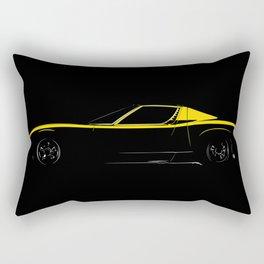 Lamborghini Miura Rectangular Pillow