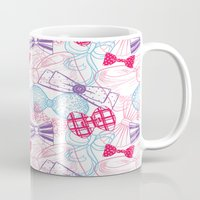 bows Mugs featuring Bows by Wendy Ding: Illustration