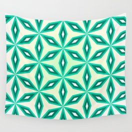 Diamonds and flowers Wall Tapestry