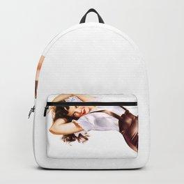 Retro Pin Up Girls Brunette German Pinup Girl Backpack