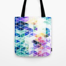 Grungy Bright Triangle Pattern Tote Bag