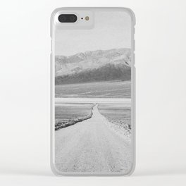 ON THE ROAD XIII (B+W) Clear iPhone Case