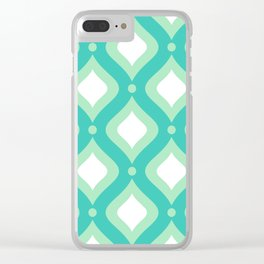 Vintage Mid Century Pattern Clear iPhone Case