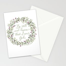 Be Still and Know Green - Psalm 46:10 Stationery Cards