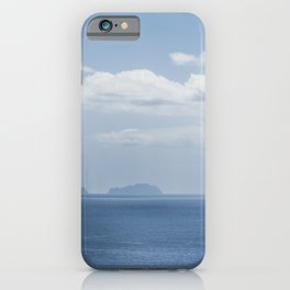 Mighty blue island near the Madeira coast / blue skies summer sea / wanderlust fine art print iPhone Case