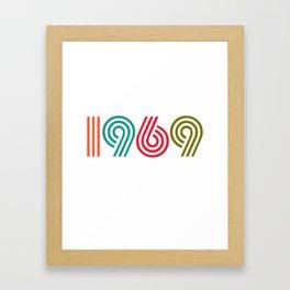 Vintage 1969 birthday birthday idea 50 years Framed Art Print