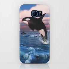 Killer whales in the Arctic Ocean Galaxy S7 Slim Case