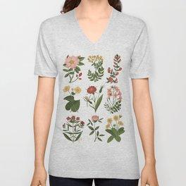 Flower Sketches Unisex V-Neck