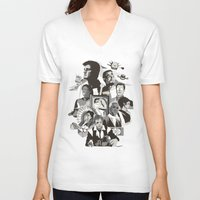 firefly V-neck T-shirts featuring Firefly: Serenity by Danny Haas
