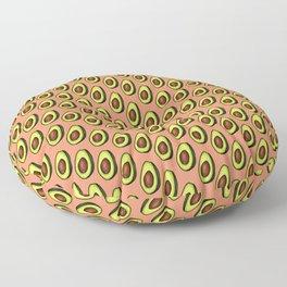 Avocados on Peach, Diagonal Floor Pillow