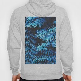 BLUE SERIES Botanical fern jungle in blue shades Hoody