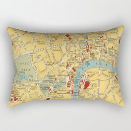 Vintage map of Central London Rectangular Pillow