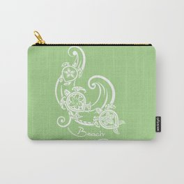 White Beach Please Turtle Collage Carry-All Pouch