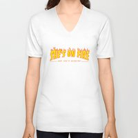 scarface V-neck T-shirts featuring Scarface She's on Fire  by D-fens